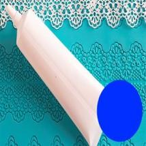 Кружево ванильное синее