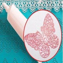 Кружево ванильное розовый перламутр