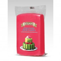 Сахарная мастика «Визьен» 0,5 кг красная