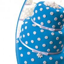 Мастика сахарная ванильная синяя