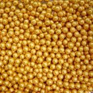 Шарики сахарные золотые 3 мм