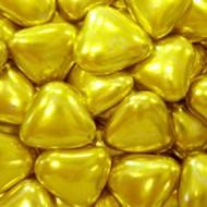 Сердечки шоколадные золотые