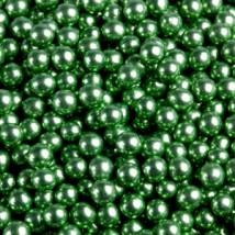 Шарики сахарные зеленые 5 мм.металл