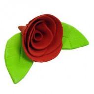 Украшение сахарное «Роза красная»