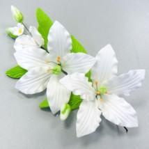 Украшение сахарное «Букет белые лилии»