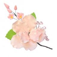 Украшение сахарное «Бутоньерка розовый шиповник»