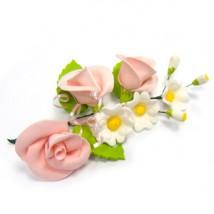 Украшение сахарное «Букет розовые розы»
