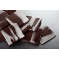Украшение шоколадное Квадрат мраморный